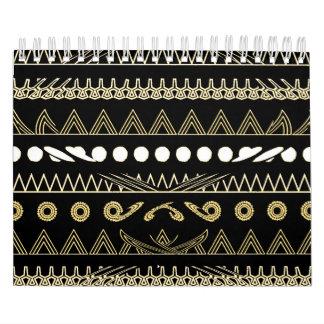 Contemporary African Style Art Calendar
