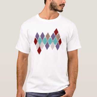 Contemporary Argyle Solid Colors Houndstooth Men's T-Shirt
