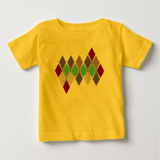 Contemporary Argyle Solid Colors Infant Baby T-Shirt