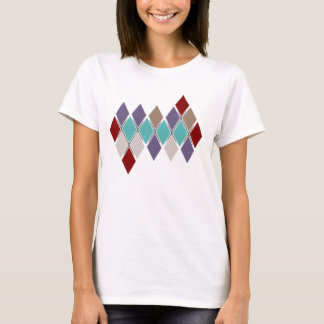 Contemporary Argyle Solid Colors Ladies Shirt
