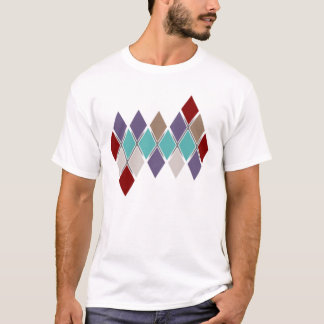 Contemporary Argyle Solid Colors Ladies Toned Str. T-Shirt