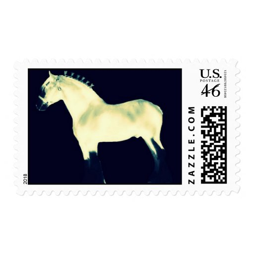 contemporary art clydesdale horse postage