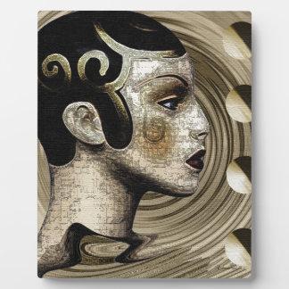 Contemporary Art Deco Art Plaque