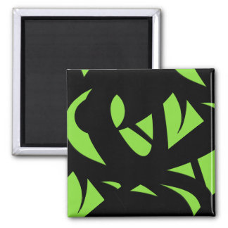 Contemporary Art Green / Black Magnet