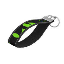 Contemporary Art Green / Black Wrist Keychain