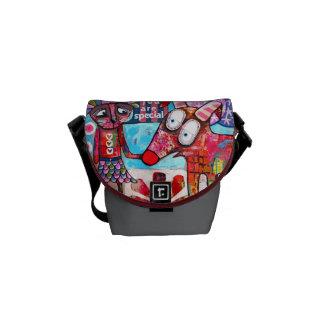 Contemporary Art Handbag Courier Bag