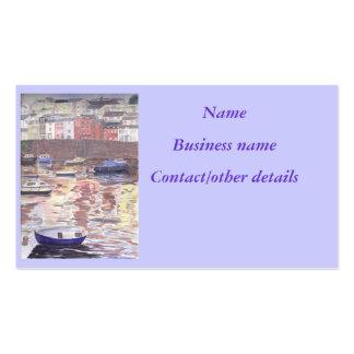 Contemporary Art Harbour Scene Business Cards