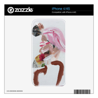 Contemporary art head design decals for iPhone 4