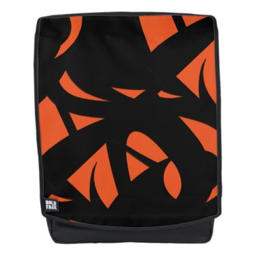 Art Themed Contemporary Art Orange / Black Backpack