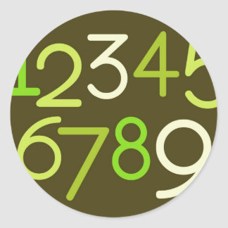 Contemporary Baby | Numbers I Classic Round Sticker