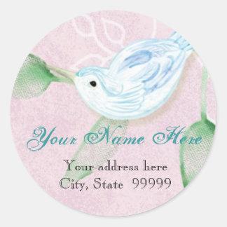 Contemporary Birds 'n Swirls,  Address Stickers