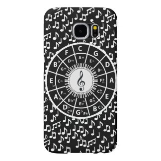 Contemporary black and white music wheel design samsung galaxy s6 case