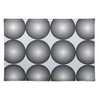 Contemporary Black & Gray Three-Dimensional Balls Cloth Placemat