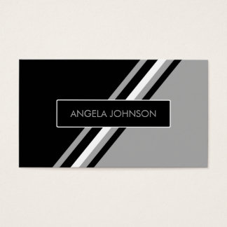 Contemporary black white and gray contact card