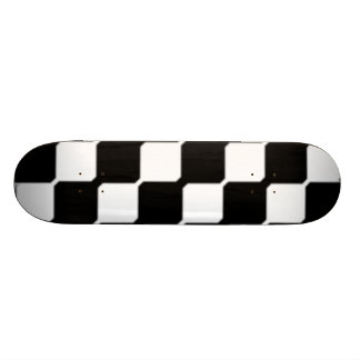 Contemporary Black & White Art Skateboards