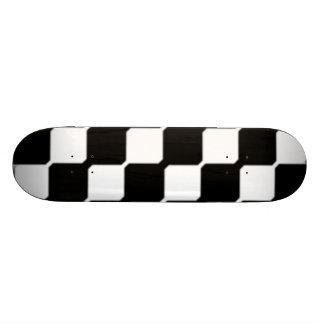 Contemporary Black & White Art Skateboard Deck