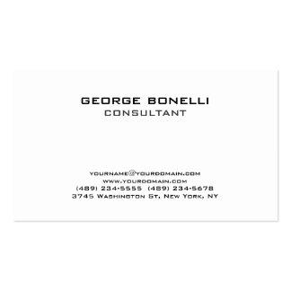Contemporary Black White Classical Business Card