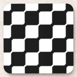 Contemporary Black & White Drink Coaster