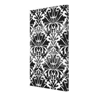 Contemporary Black & White Design Canvas Print