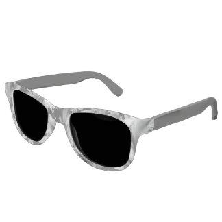 Contemporary Black White Frost Sunglasses