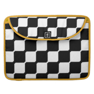 Contemporary Black & White Sleeve For MacBook Pro
