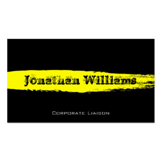 Contemporary Black & Yellow Modern Business Card