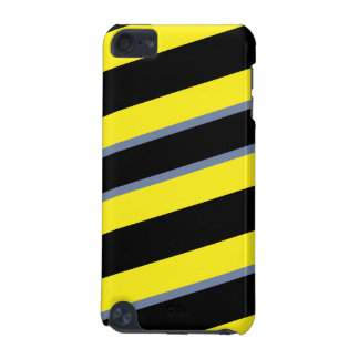 Contemporary Black Yellow pigeon blue stripes iPod Touch 5G Covers