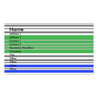 Contemporary blue and gray horizontal stripes business card