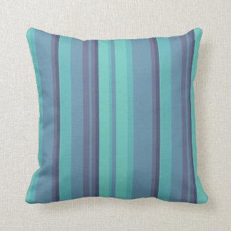 Contemporary Blue Stripe Throws Throw Pillows