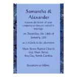 Contemporary Blue Wedding Invite
