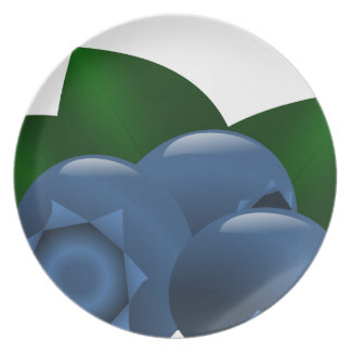 Contemporary Blueberry Party Plate