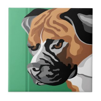 Contemporary Boxer Art Tile