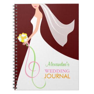 Contemporary Bride's Wedding Journal Notebook