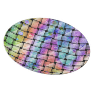 Contemporary BRIGHT WEAVE Designer PLATE