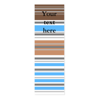 Contemporary brown and blue horizontal stripes business card templates