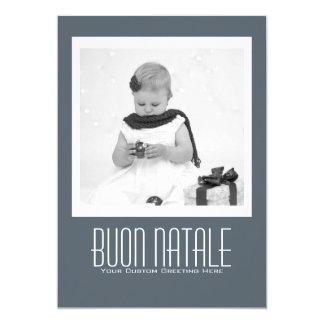Contemporary Buon Natale Template Card