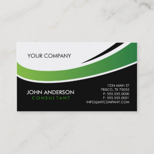 Two color business cards zazzle contemporary business card reheart Images