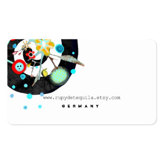 Contemporary Business Card Black and White Swirl