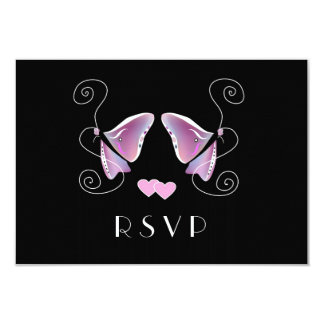 """Contemporary Butterfly RSVP Card 3.5"""" X 5"""" Invitation Card"""