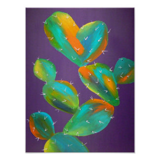 contemporary cactus art print
