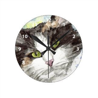 Contemporary Calico Cat Clocks
