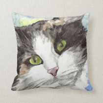 Contemporary Calico Cat Lover Gifts Throw Pillow