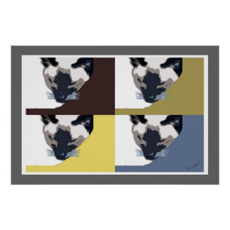 Contemporary Cat 4-Square Poster