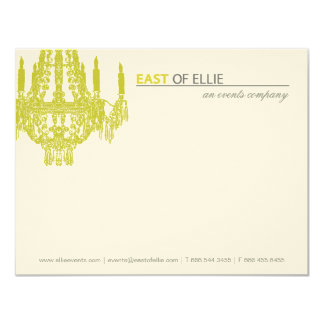 """Contemporary Chandelier Notecards 4.25"""" X 5.5"""" Invitation Card"""