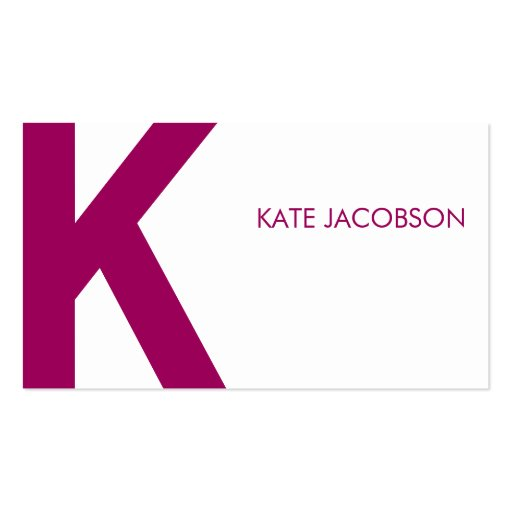 Contemporary Chic Calling Card Business Cards