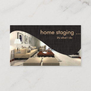 Home staging business cards templates zazzle contemporary chic home staging business card colourmoves