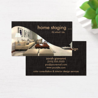 Contemporary Chic Home Staging Business Card