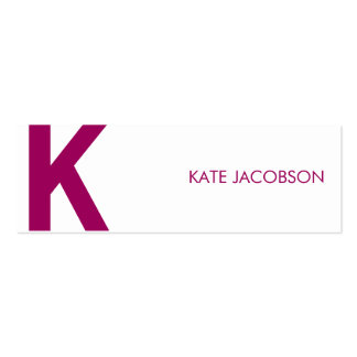 Contemporary Chic Skinny Calling Card Double-Sided Mini Business Cards (Pack Of 20)