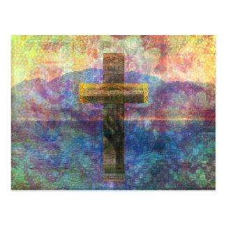 Contemporary Christian Art  Modern Cross Postcard