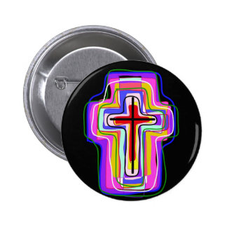 Contemporary Christian symbol Buttons